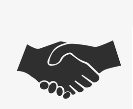 Handshake icon, Vector