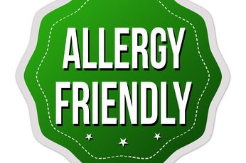 Allergy friendly  label or sticker